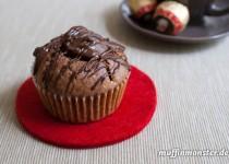 Schokoladen Muffin mit Mozartkugel