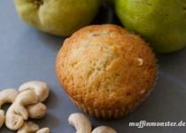 Birnen Muffin mit Cashewnüssen
